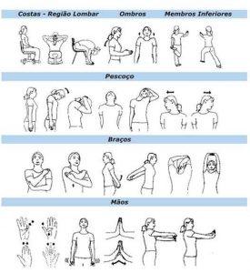 exercícios laborais
